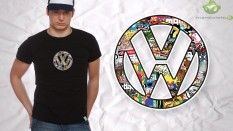 Sticker  vw  black